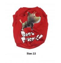 Super Dog Winter Dog T Shirt Size 22