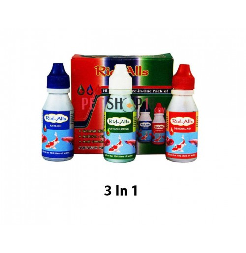 Rid All Fishes Med and Supplements 3 In 1 Pack