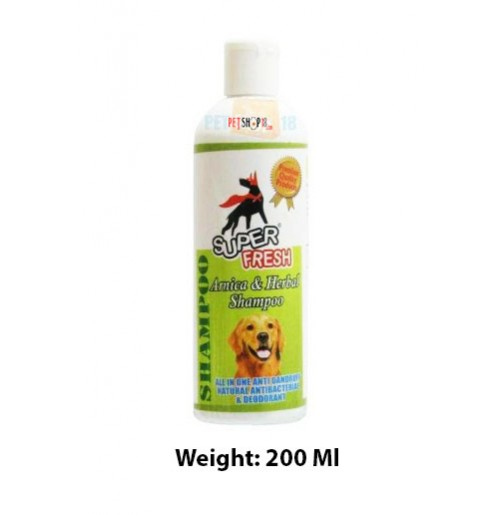 Super Fresh Arnica And Herbal Dog Shampoo 200 Ml