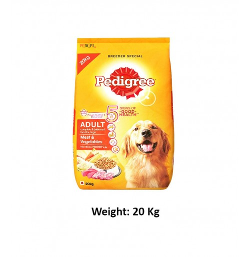 Pedigree Adult Dog Food Meat And Vegetables 20 Kg