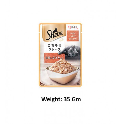 Sheba Deluxe Cat Treat Fish With Sasami 35 Gm