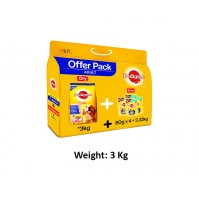 Pedigree Adult Dog Food Chicken And Veg Combo 3 Kg