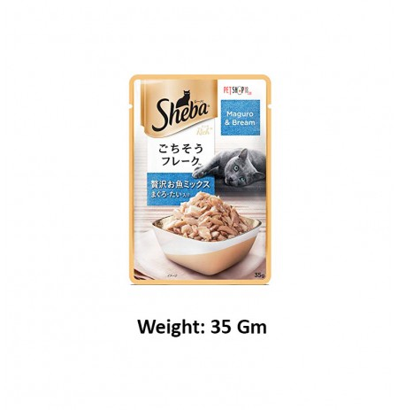 Sheba Deluxe Cat Treat Maguro And Bream 35 Gm