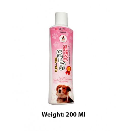 Super Fresh Flea And Tick Dog Shampoo 200 Ml