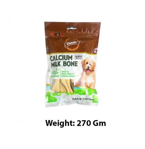Gnawlers Dog Treats Calcium Milk Bones 12 In 1 270 Gm
