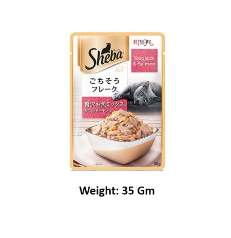 Sheba Cat treat Spikjack And Salmon 35 Gm