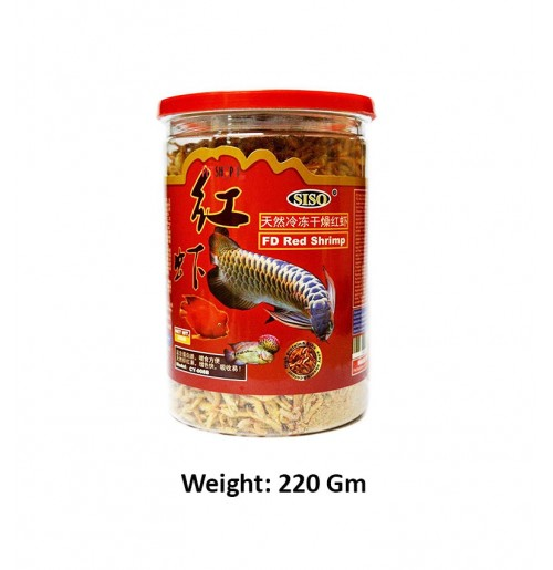 Siso Freeze Dried Red Shrimp 220 Gm