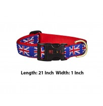Super Dog Adjustable Printed Dog Collar