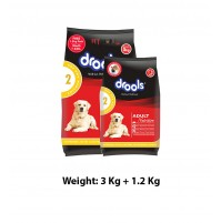 Drools Adult Dog Food Chicken And Egg 3 Kg With 1.2 Kg Free