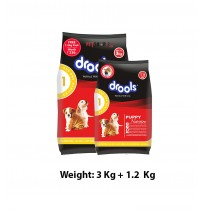 Drools Puppy Food Chicken And Egg 3 Kg With 1.2 kg Free