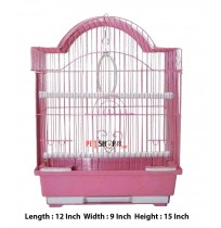 Bird Cage Semi Curve Small Pink