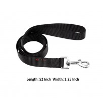 Super Dog Nylon Dog Leash Black 1.25 Inch