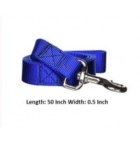 Super Dog Nylon Dog Leash Blue 0.5 Inch