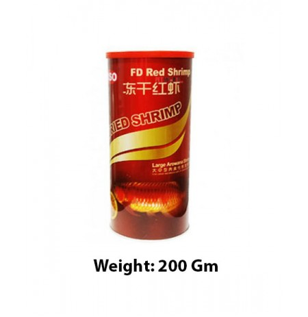 Siso Freeze Fish Food Dried Red Shrimp 200 Gm