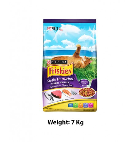 Purina Friskies Adult Dry Cat Food Surfin Favorites 7 Kg