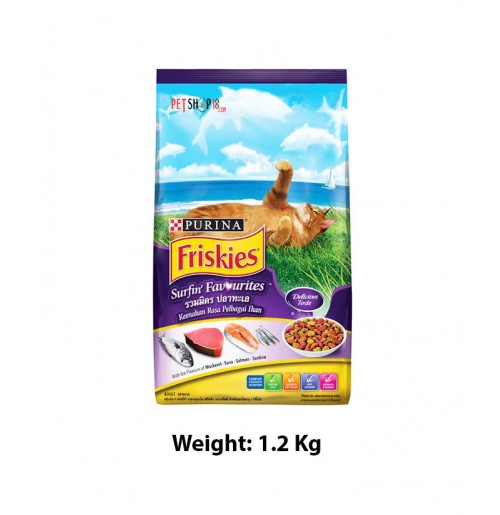 Purina Friskies Adult Dry Cat Food Surfin Favorites 1.2 Kg