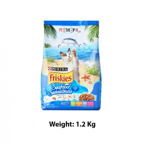 Purina Friskies Adult Dry Cat Food Seafood Sensations 1.2 Kg