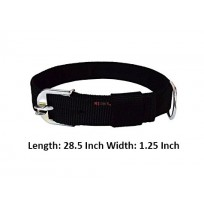 Super Dog Nylon Dog Collar Black 1.25 Inch