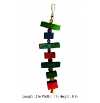 Colorful Wooden Blocks And Beads With Bell