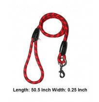 Rope Leash Red And Black Small