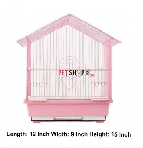 Bird Cage Hut Small Pink Birds Buy At Petshop18 Com