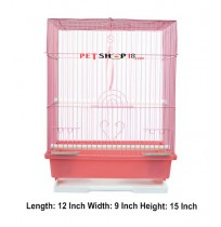 Bird Cage Pink Flat Small