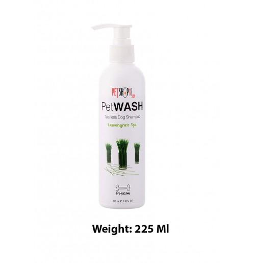 Pet Wash Lemongrass Spa Tearless Dog Shampoo 225 Ml