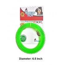 Super Dog Dog Toy Spiky Transparent Rubber Ring