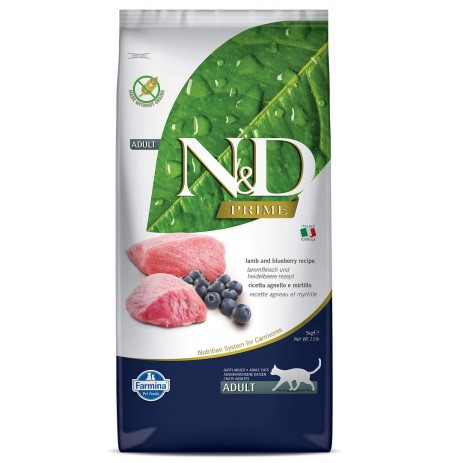 Farmina ND Cat Food Lamb And Blueberry Grain Free 5 Kg