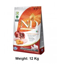 Natural And Delicious Dog Food Pumpkin Chicken And Pomegranate Grain Free Medium And Maxi Adult 12kg