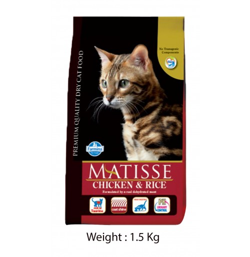 Farmina Matisse Cat Food Chicken And Rice 1.5 Kg Petshop18.com