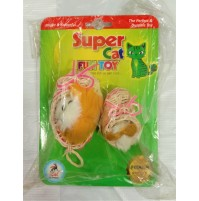 Super Cat Toy Cat In Basket 2 Pieces