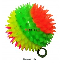 Muliticolored Spiky Led Rubber Ball