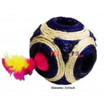 Sisal Feathered Rattle Cat Ball