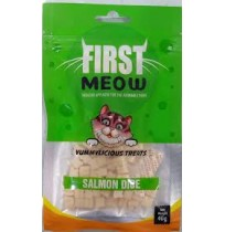 First Meow Cat Treat Salmon Dice 40 Gm