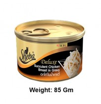 Sheba Deluxe Cat Treats Succulent Chicken Breast In Gravy Can 85 Gm