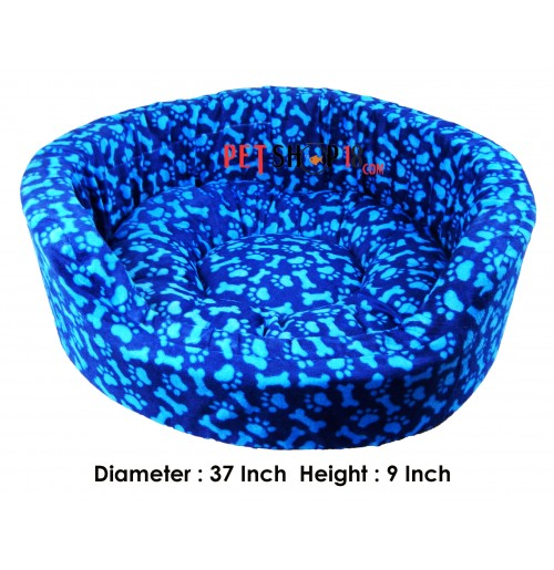 9293a24de91a Paw And Bone Printed Bed In Blue Color Large - Dog-Beds   Mattress ...