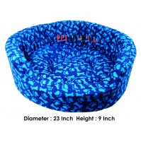 Paw And Bone Printed Bed In Blue Color Small