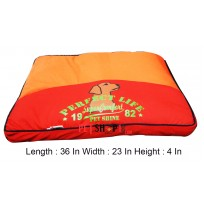 Rectangular Red And Orange Mattress Small 36 In