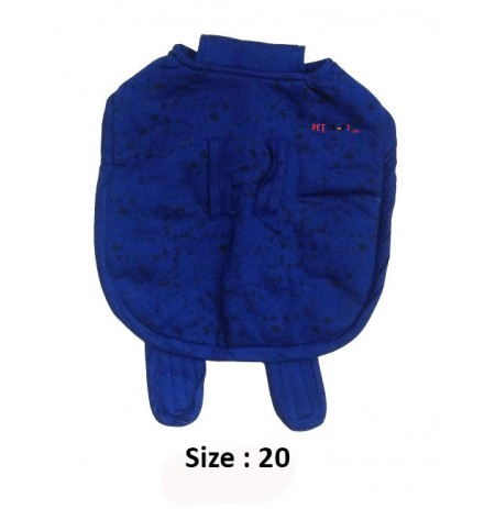Super Dog Dog Coat Black Spots Printed Blue 20