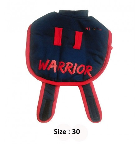 Super Dog Dog Coat Red Warrior Printed Blue 30