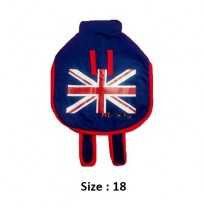 Super Dog Dog Coat Union Jack Printed Blue 18