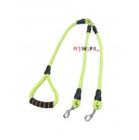 Dogista Double Dog Rope Leash With Silver Hooks