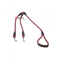Dogista Double Dog Rope Leash With Golden Hooks