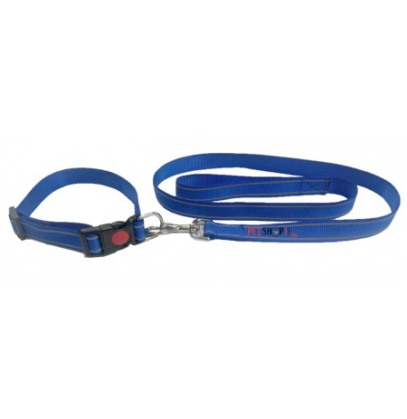 Scoobee Dog Nylon Reflective Collar And Leash Set 1 Inch