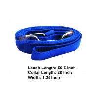 Nylon Royal Dog Collar And Leash Blue Set 1.25 In