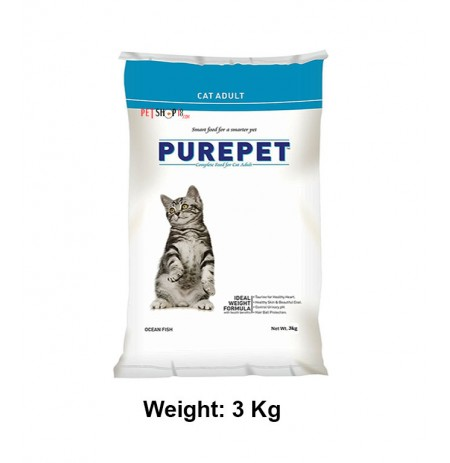 Purepet Ocean Fish Adult Cat Food 3 Kg