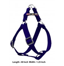 Super Dog Nylon Adjustable Dog Harness Blue 1.25 Inch