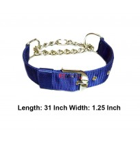 Superdog Royal Blue Choke Collar 1.25 In