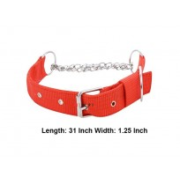 Superdog Royal Red Choke Collar 1.25 In